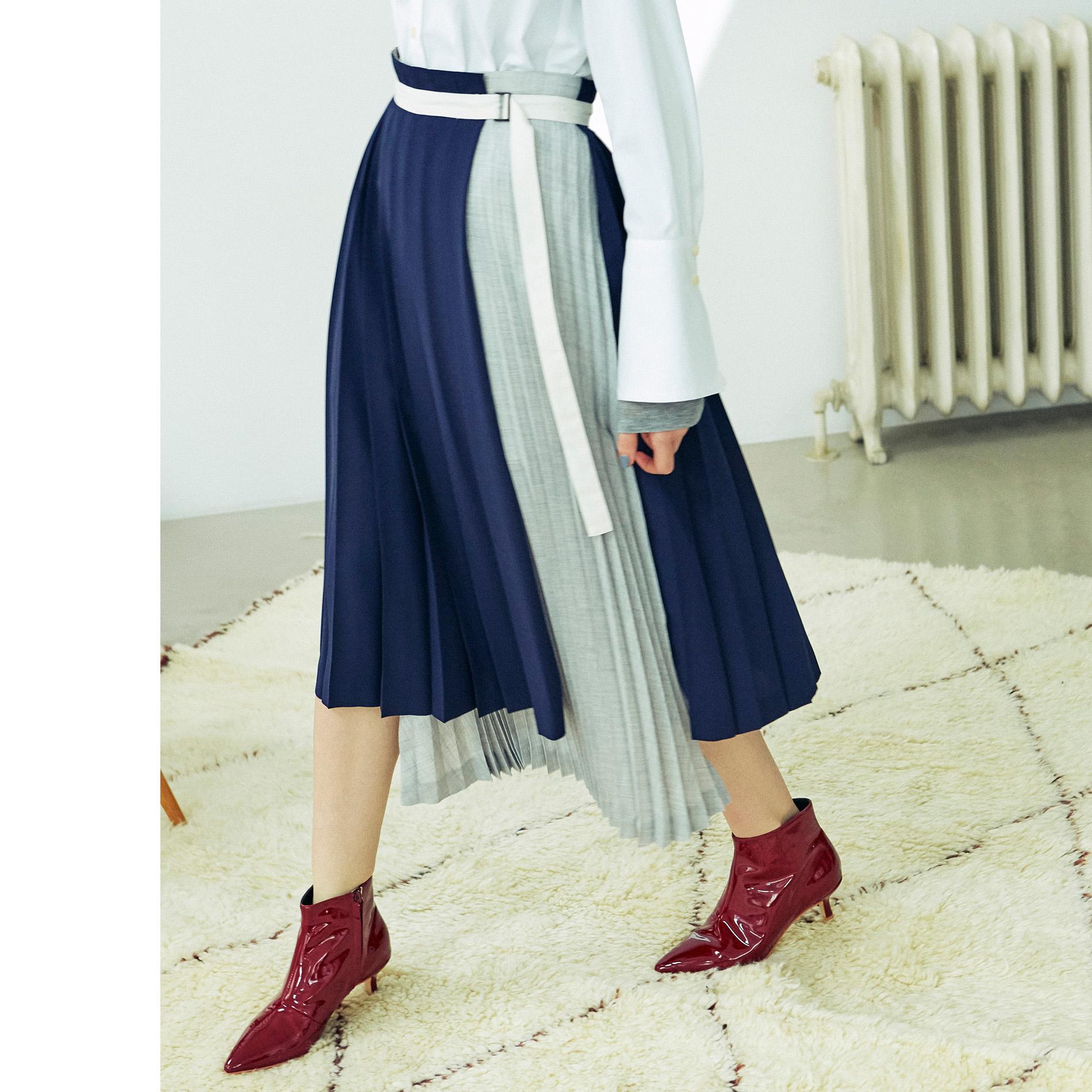 【Oggi10月号掲載】プリーツコンビスカート